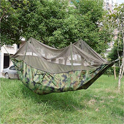 Tragbarer Camping Jungle Outdoor Hängematte aufhängen Nylon Bett Zelt Moskitonetz Camo Camo Moskitonetz