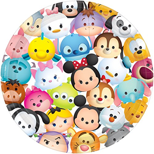 TSUM TSUM by Disney 9 Lunch / Dinner Plates Birthday Party Supplies by anagrm