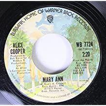 Alice Cooper 45 RPM Mary Ann / Billion Dollar Babies