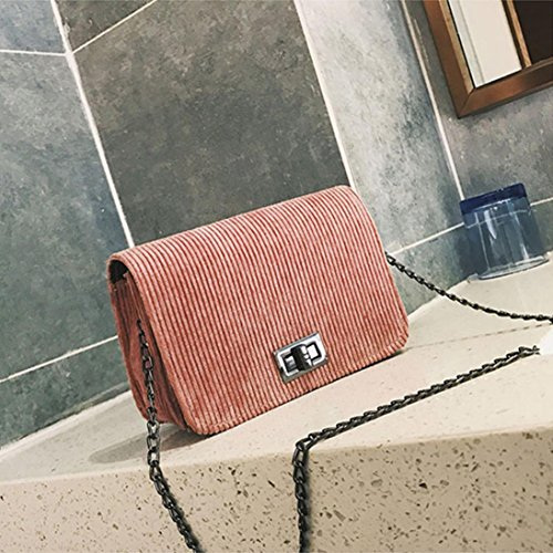 BZLine® Damenmode Hasp Handtasche Crossbody Umhängetasche Tote Pink