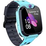 Jeu pour Enfants Smart Watch MP3 Montres Intelligentes à Écran Tactile HD avec [1 Go Carte Micro SD] Appel SOS Réveil pour Ga