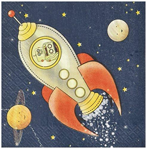 Ginger Ray Spaceship Papier Kids Party Servietten - Space-Abenteuer-Partei