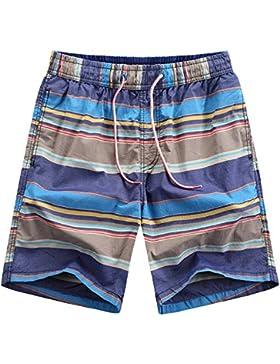 WDDGPZ Pantalones Cortos De Playa/Los Hombres Cortos De Playa De Moda Masculina De Verano Mar Board Shorts L-3Xl...