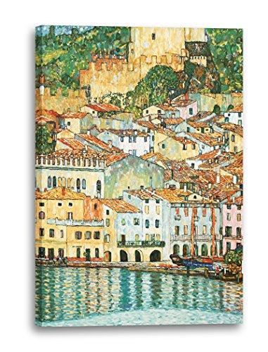Gustav Klimt - Malcesine am Gardasee (1913), 60 x 80 cm (weitere Größen verfügbar), Leinwand auf...