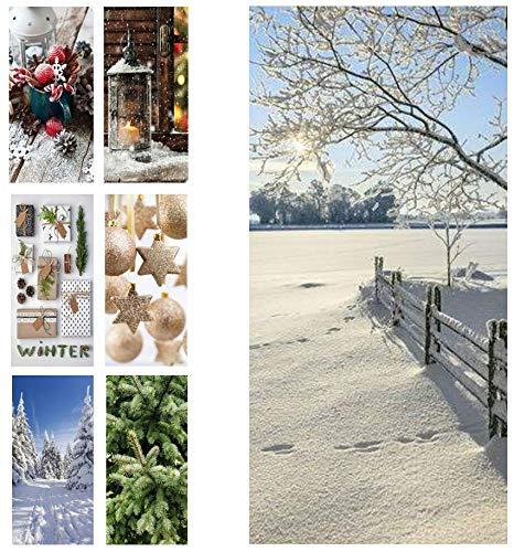 Hochwertiger Textilbanner Weihnachten/Winter - Große Auswahl - 180cmx90cm - Einseitig Bedruckt - Schaufenster Deko - Wanddeko/Textilbild/Weihnachtsdeko (Winterlandschaft)