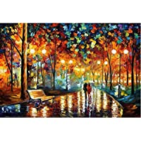 Premium Quality Wooden Jigsaw Puzzles 1000 Piece Colorful Brain Teasers Games for Adults Children Gifts (A rainy night walk)