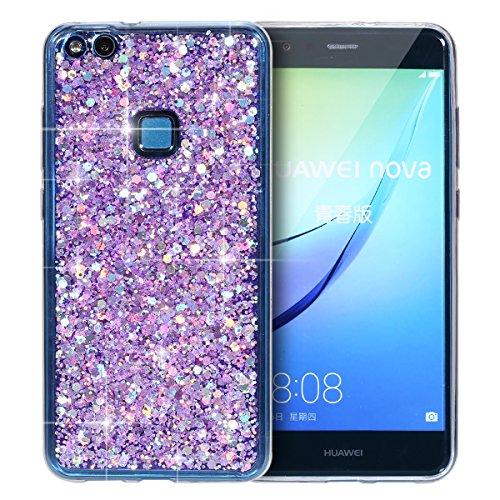 custodia-per-cellulare-per-Huawei-P10-lite-Ysimee-Brilla-Bling-Custodia-morbido-trasparente-scintillante-in-TPU-Custodia-protettiva-antipioggia-sottile-in-silicone-antiurto-per-Huawei-P10-lite