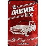 Nostalgic-Art 22212 Plaque en métal Golf originale de Volkswagen [en anglais] 20 x 30 cm