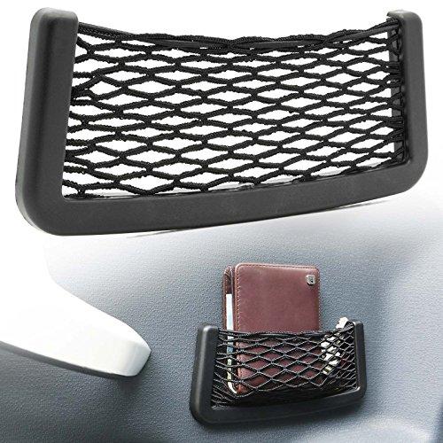 Adapter Universe KFZ Auto PKW Ablagenetz Stretch Fach Autonetz 20 x 8 cm Kofferraum Interieur Gepäck Netz Universal -