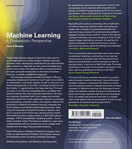 Machine Learning – A Probabilistic Perspective (Adaptive Computation and Machine Learning series)