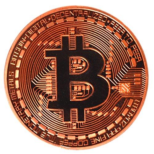 Bitcoin Sammler Neuheit Geschenkidee - Physische Bitcoin - Cryptocurrency Replik (Kupfer) -