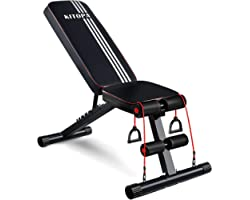 Adjustable Weight Bench, Kitopa Utility Workout Bench for Home Strength Training, Gym Incline Decline Bench for Full Body Exe