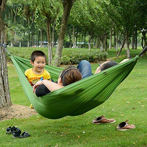 Toile de loisirs en plein air hamac portable double siège 270 * 150 CM (Color : Green)