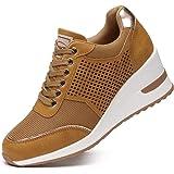 Sneakers con Zeppa Stringate Donna Tacco Alto per - Scarpe da Ginnastica con Zeppa Donna, la Scelta Migliore per l'uso Quotid