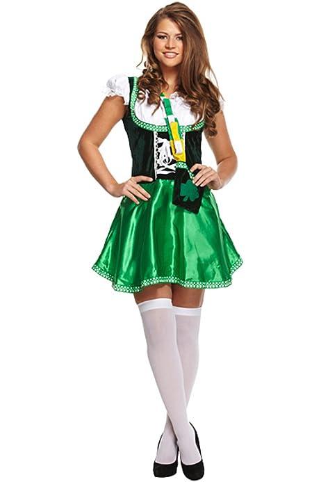 Ladies Womens Mens St Patrick Celebration Day Party Fancy Irish Style Costume ■