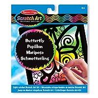 Melissa & Doug Butterfly Light Catcher Scratch Art Kit