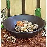 Homesake Large Wood Salad Bowl, Black