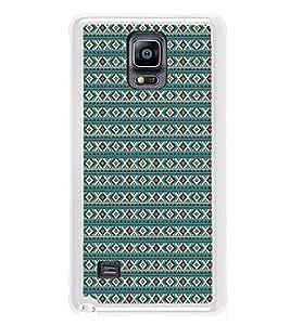 PrintVisa Designer Back Case Cover for Samsung Galaxy Note 4 :: Samsung Galaxy Note 4 N910G :: Samsung Galaxy Note 4 N910F N910K/N910L/N910S N910C N910Fd N910Fq N910H N910G N910U N910W8 (Texture Pattern Design Fabric Blue)