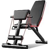 Acobonline Banco de Pesas Ajustable para Fitness Banco de Musculación Multifunción para Entrenamiento de Cuerpo Entero Banco
