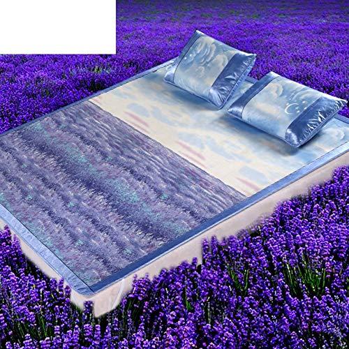 Golden_flower Summer Cool Matratze Cool Pad Cartoon Ice Silk Faltbare Sitze (1 Mat + 2 Kissenbezug) (Cartoon-kissenbezüge)