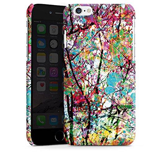 Apple iPhone 5 Housse Étui Silicone Coque Protection Feuilles couleurs Printemps Cas Premium brillant