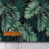 Weaeo Custom 3D Wandbild Tapeten Modern Vintage Wald Blatt Foto Wandbild Wohnzimmer Fernseher Sofa Restaurant Hintergrund Wand Home Decor-400 X 280 Cm