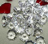 25 große Deko Diamanten Acryl 32mm Hochzeit Tischdeko Diamant klar Hochzeit