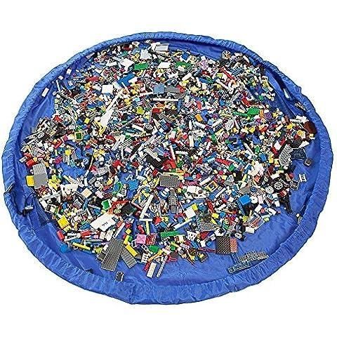 'yunnasi 150cm/60Diamter sacco aufräum per bambini coperta giocattoli memoria borsa busta deposito di giocattolo XL