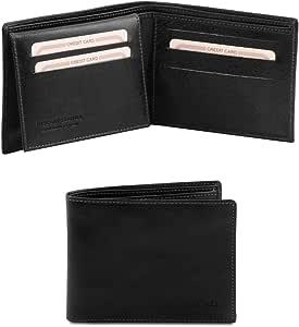 Tuscany Leather Esclusivo portafoglio uomo in pelle 3 ante Nero