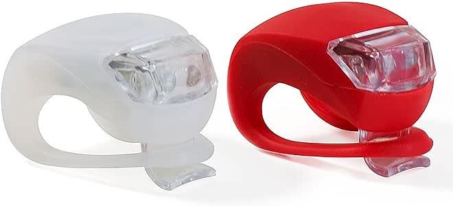 VeloChampion Quick Fix Kit declairage a Fixation Rapide eclairage en Silicone Avant et Arriere Bicycle Light Set