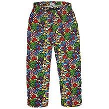 MARVEL COMICS - Superhéroes - Hombre Oficial Pantalones de andar por casa (Pantalón De Pijama)