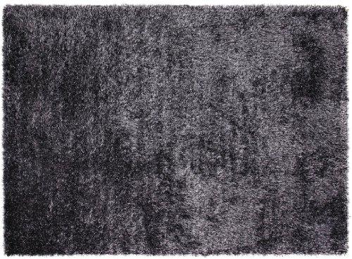ESPRIT Cosy Glamour Moderner Markenteppich, Polypropylen/Polyester, Silber, 200 x 200 x 4 cm