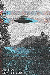 Notebook: Alien UFO Journal Diary | 80s Vaporwave Retro Video Glitch Grunge Aesthetic | A5 6x9"
