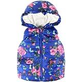 Kobay Baby Unisex Gilets, Toddler Kids Baby Grils Boys Sleeveless Strip Rainbow Hooded Warm Waistcoat Top Outwear…