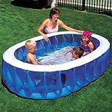 234x152cm Bestway Oval Planschbecken Schwimmbecken XXL Kinder Pool Swimmingpool
