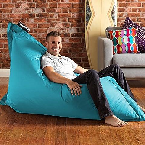 BAZAAR BAG ® - Giant Beanbag AQUA - Indoor & Outdoor Bean Bag - MASSIVE 180x140cm - GREAT for