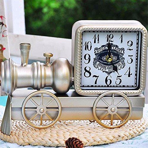 Bügeleisen tai Uhr Zug Haus Dekoration Bell ruhigen Ton Pendeluhr Nachttisch Wecker Persönlichkeit Wecker