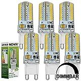MENGS® 6 Stück Dimmbar G9 LED Lampe 3W AC 220-240V Warmweiß 3000K 64x3014 SMD Mit Silikon Mantel