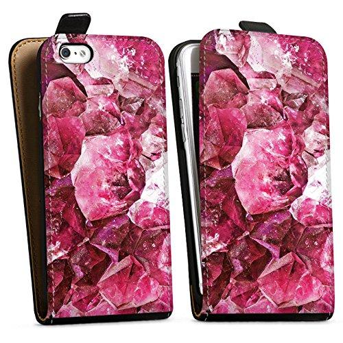 Apple iPhone X Silikon Hülle Case Schutzhülle Kristall pink Muster Edel Downflip Tasche schwarz
