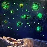 Malaxlx Planètes et Etoiles Lumineux Stickers Muraux Autocollants Fluorescents Sticker Mural pour Décoration de Enfants Chamb