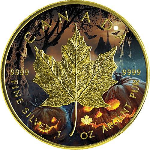1 Oz Silver Coin 5$ Canada 2016 (Halloween Uomo Idee)