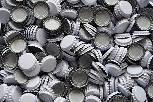 Dekohelden24 1000 Kronkorken Weiss - neu - ungestanzt - zum Bier selber brauen und zum verschließen jeglicher Standartflaschen