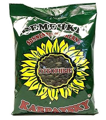 4 x 380g Geröstete Sonnenblumenkerne schwarz mit Schale ungesalzen