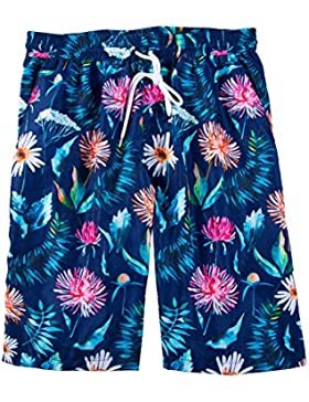 HAIYOUVK Printed Men'S Large Size Beach Shorts Shorts Boxer Couples Hot Springs Quick-Dry Casual Swimsuit,Xl,Blue...