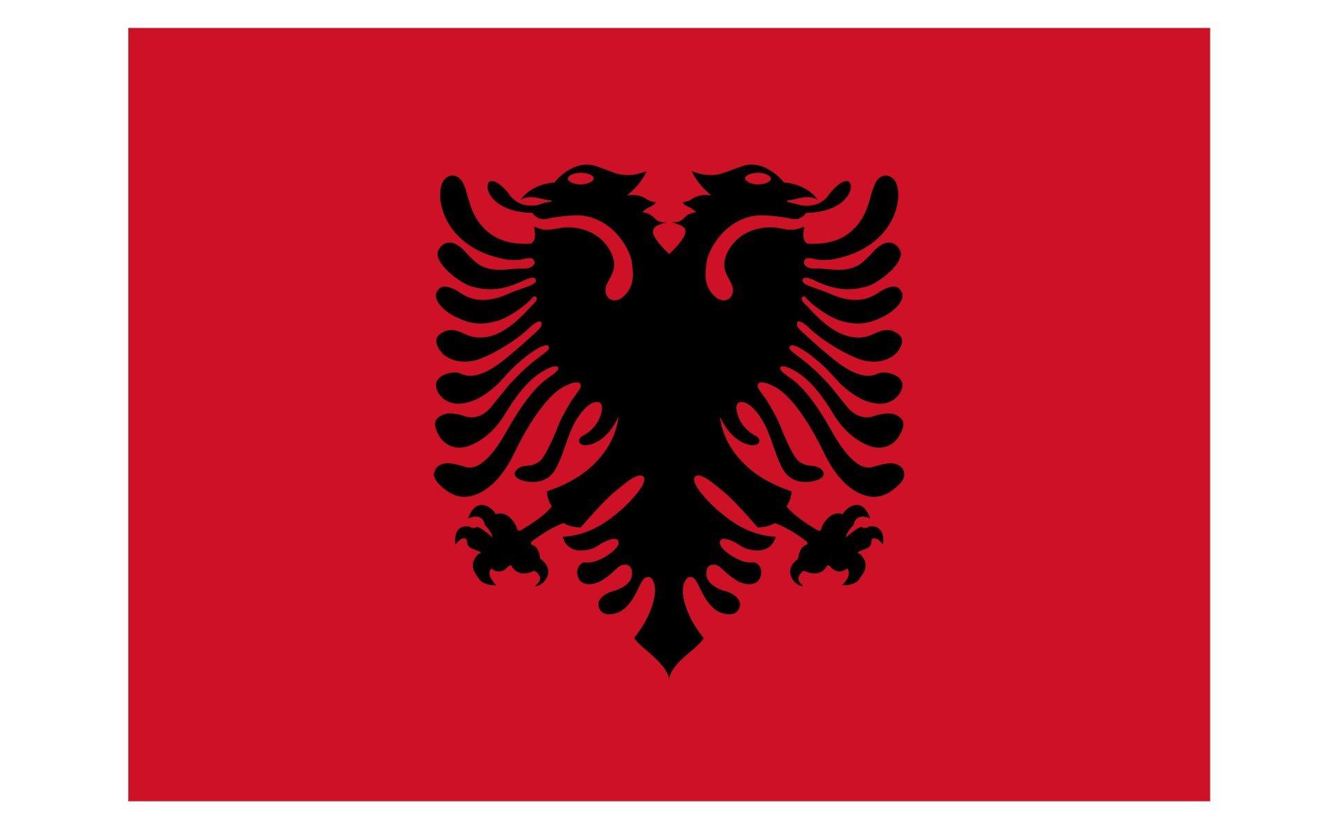 Queenshiny® Europa Länder Nationalflaggen Fahne/Flagge 90 x 150 cm - Albanien