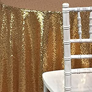 Sparkly 90inx132in Rose Gold Sequin Glamorous Cloth/fabric for Wedding/dessert Table by Unknown