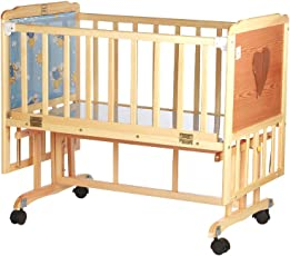 Mee Mee Baby Cradle with Swing and Mosquito Net, Large, Wooden
