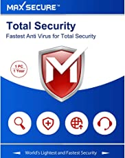 Max Secure Software Total Security Platinum Version 6 - 1 PCs, 1 Year (Email Delivery in 2 Hours - No CD)