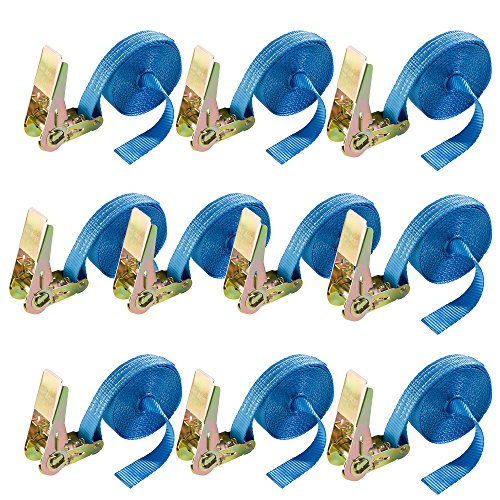 Arebos 10x Spanngurt 6 m 800daNnngurte 6 m x 25 mm 800daN 4260199754412