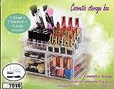 Ballino acrilico trucco organizer, Stack capace di cosmetici unità perfetto per esporre make up pennelli, rossetti, pallet, smalto per unghie